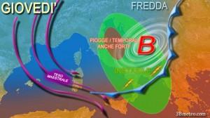 Previsione meteo: con l'autunno arrivano pioggia e neve
