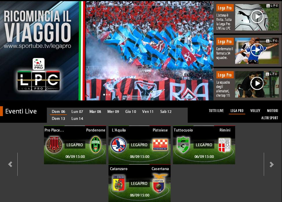 Pro piacenza pordenone 1 1 gol e highlights sportube for Camera diretta tv