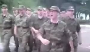 VIDEO YouTube - Esercito russo marcia cantando SpongeBob