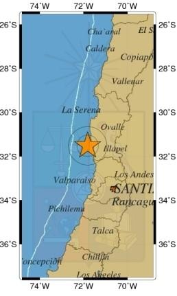 Terremoto Cile 7.2 sentito anche a Santiago. Allerta tsunami