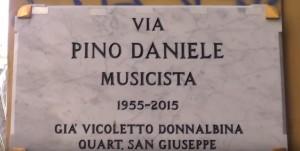 VIDEO YOUTUBE Napoli: Via Pino Daniele diventa realtà