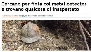 Vicenza, col cercametalli scoprono per caso resti di soldato