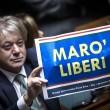Ban Ki Moon alla Camera, cartelli Forza Italia Marò liberi5