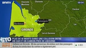 Francia, scontro tra camion e bus: almeno 42 morti