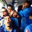 Napoli, Allan addormentato sul pullman: i compagni … FOTO
