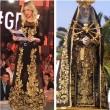 Gf 14, Alessia Marcuzzi e abito nero e oro stile Madonna...