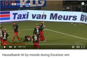 VIDEO YOUTUBE Esulta al gol: gli arriva bicchiere in testa