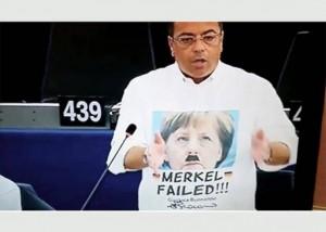 Buonanno sospeso 10 giorni per maglietta Merkel-Hitler