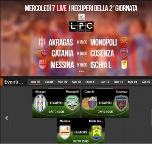 Catania-Cosenza: streaming diretta live Sportube su Blitz, ecco come vederla