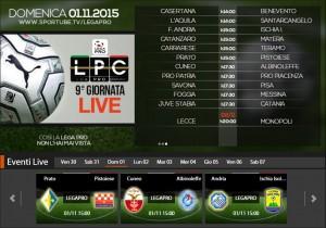 Cuneo-Albinoleffe: streaming diretta live Sportube, ecco come vederla