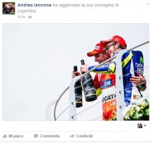 La foto pubblicata da Andrea Iannone su Facebook