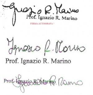 Ignazio Marino disconosce la sua firma sulle note spese