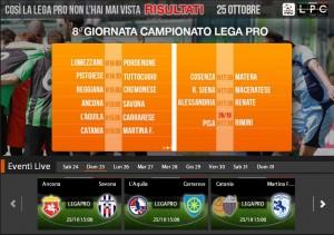 L'Aquila-Carrarese: streaming diretta live Sportube, ecco come vederla