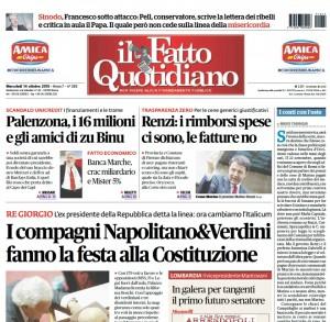 """Marco Travaglio sul Fatto Quotidiano: """"I conti con l'oste"""""""