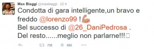 Il tweet di Max Biaggi