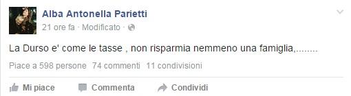 """Alba Parietti: """"Barbara D'Urso puntuale come le tasse"""""""