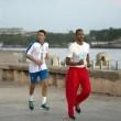Matteo Renzi a Cuba, corsa sul lungomare de L'Avana4
