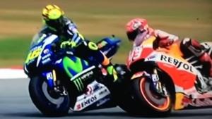Il duello tra Valentino Rossi e Marc Marquez