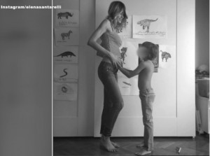 Elena Santarelli si allena col pancione VIDEO Instagram