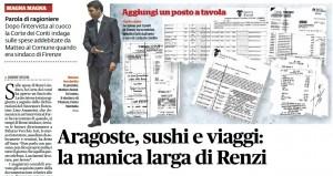 Note spese di Renzi a Firenze: Corte dei conti apre fascicolo