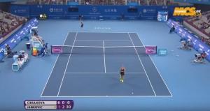 Tennis, liscio clamoroso di Dominika Cibulkova