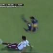 YOUTUBE Tevez gol col Boca, poi subisce entrata criminale