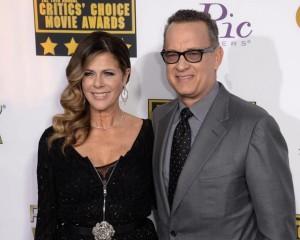 Tom Hanks con la moglie Rita Wilson (foto Ansa)