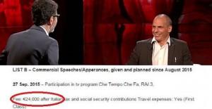 Varoufakis, 1000 euro al minuto lo pagò Fabio Fazio