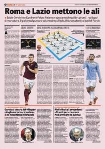 Roma-Lazio, Salah vs Candreva: derby sulle ali