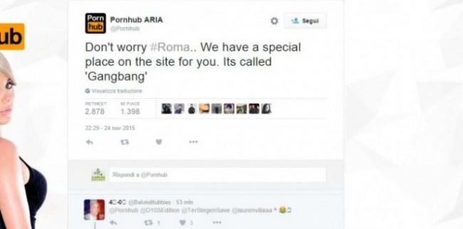 Pornhub sfottò anti Roma dopo umiliazione di Barcellona