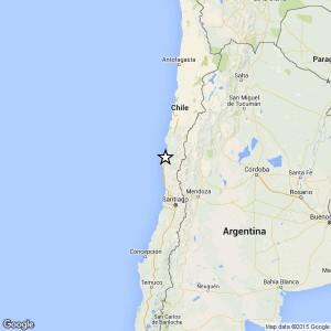 La mappa dell'epicentro (fonte: INGV)