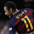 L'esultanza di Neymar (foto Lapresse)