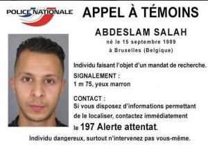 Attentati Parigi, Abdelsalam Salah ottavo terrorista in fuga