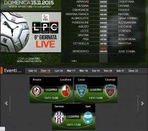 Arezzo-Lucchese: streaming Sportube in diretta live, ecco come vederla