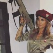 Elisabetta Canalis, Haloween col vestito da soldatessa