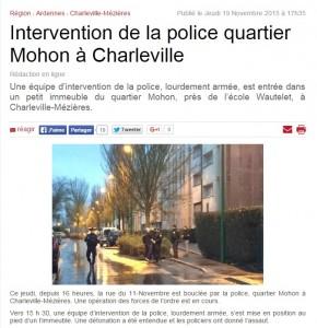 Attentati Parigi. Blitz: esplosione a Charleville (Ardenne)