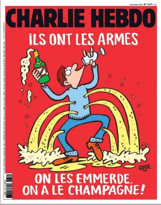 "Charlie Hebdo a Isis: ""Voi avete armi, noi champagne"" FOTO"