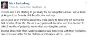 """Zuckerberg: """"Due mesi in paternità quando nasce mia figlia"""""""