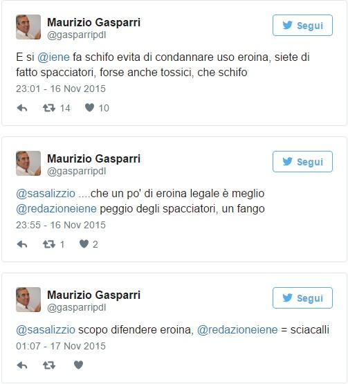 """Maurizio Gasparri contro Le Iene: """"Spacciatori e tossici"""""""