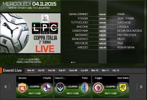 Giana Erminio-Pavia: streaming diretta live Sportube, ecco come vederla