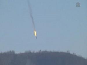 Il jet russo abbattuto