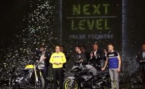 Jorge Lorenzo e Valentino Rossi all'evento della Yamaha