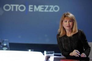 """YOUTUBE Lilli Gruber resta al buio durante """"Otto e mezzo"""""""