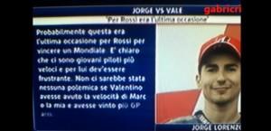 """YOUTUBE Jorge Lorenzo a Valentino Rossi: """"E' frustrante..."""""""