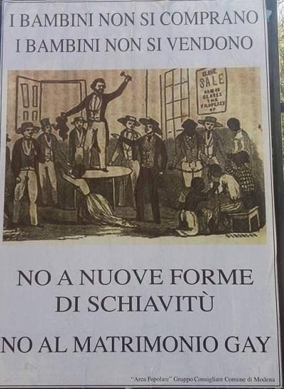 "Il manifesto: ""Adozioni di bimbi da parte di gay? Forma di schiavitù"""