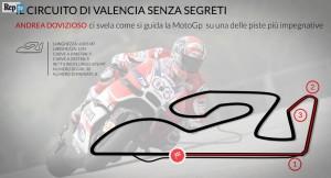 VIDEO MotoGp, Gp Spagna: a Valencia si guida così. La pista