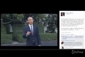 VIDEO Barack Obama su Facebook: il primo messaggio