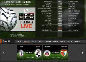 Pisa-Siena: streaming Sportube in diretta live su Blitz, ecco come vederla