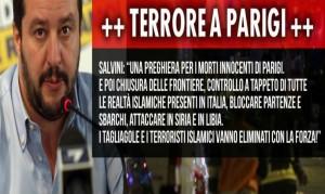 """Attentati Isis Parigi, Salvini: """"Buonisti sono complici"""""""
