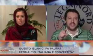 La discussione tra Matteo Salvini e Fatima